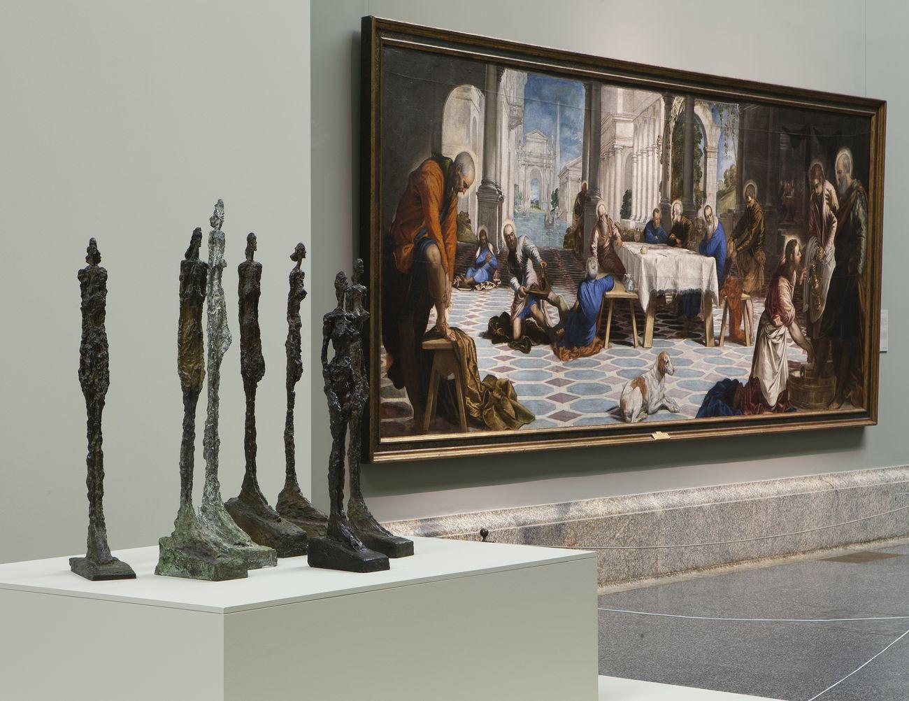 Giacometti e Tintoretto © Alberto Giacometti Estate VEGAP, Madrid, 2019. Photo © Museo Nacional del Prado