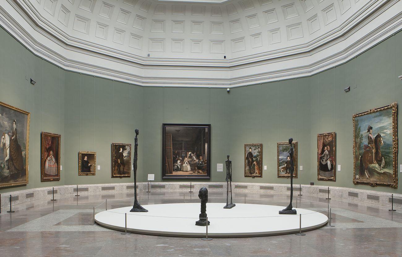 Giacometti e Velázquez © Alberto Giacometti Estate VEGAP, Madrid, 2019. Photo © Museo Nacional del Prado