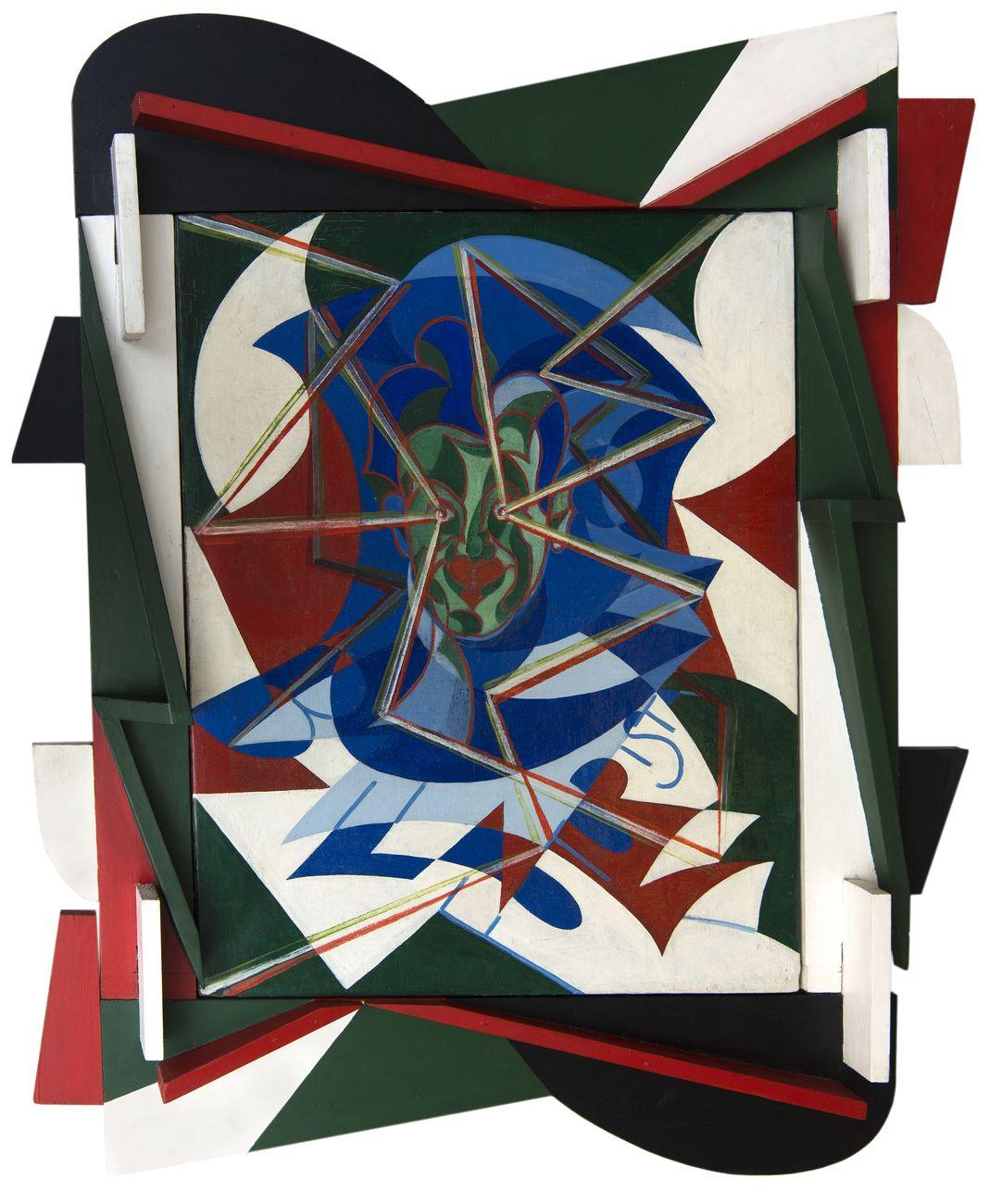 Giacomo Balla, Autoritratto tricolore, 1927. Collezione Jacorossi