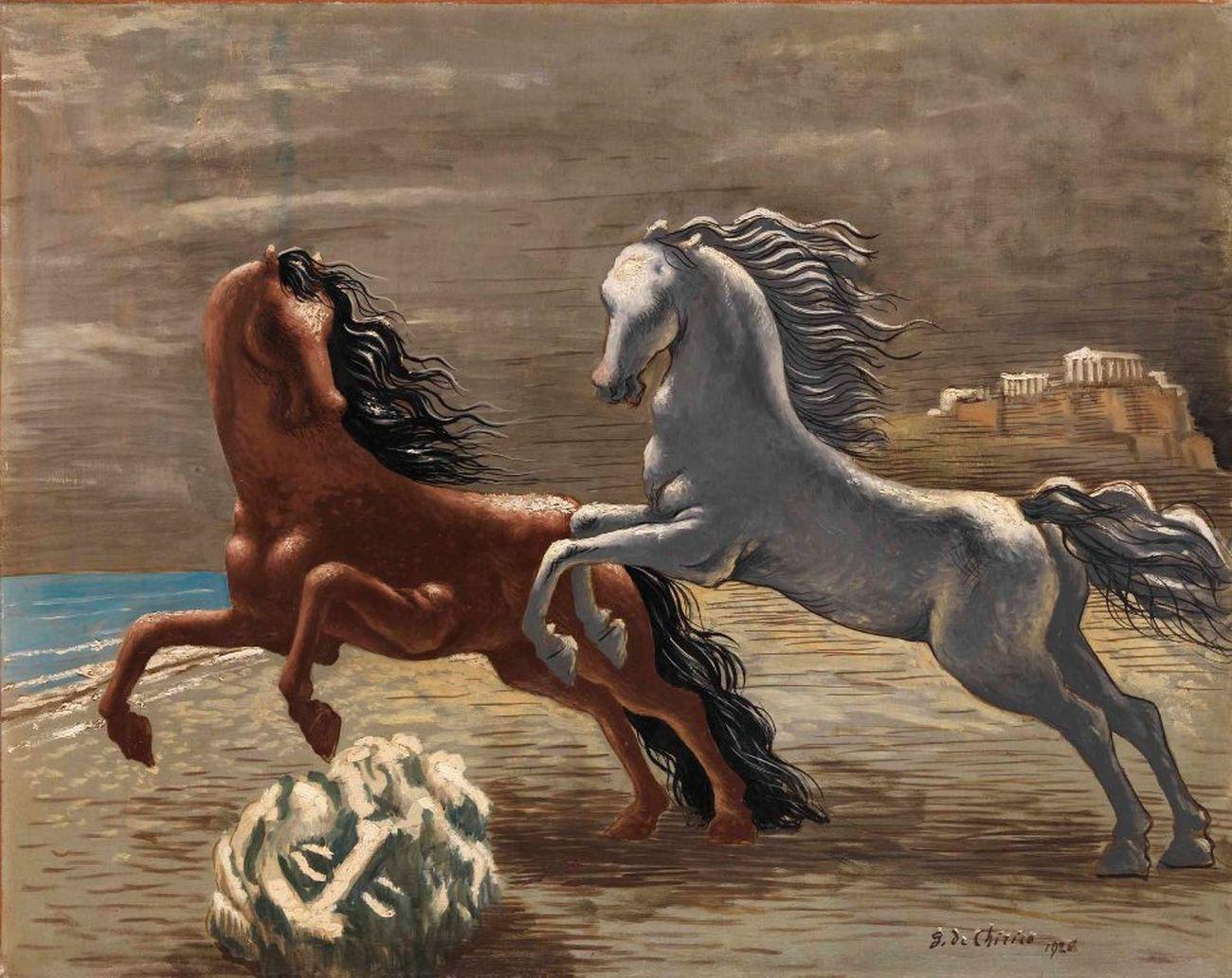 Giorgio de Chirico, Cavalli in riva al mare, 1926. Mart, Rovereto