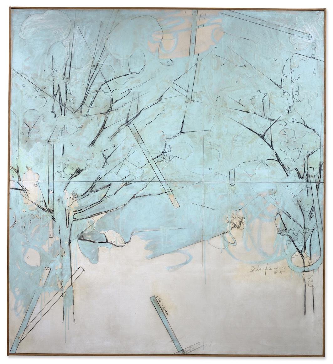 Mario Schifano, CON ANIMA 1965 € 972,500 @ Sotheby's Milano, 11 aprile 2019