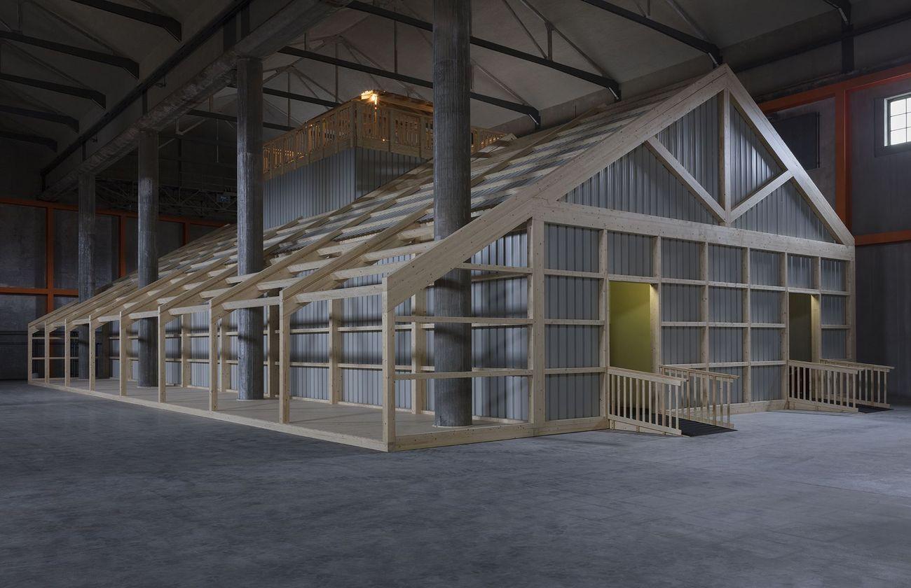 Lizzie Fitch & Ryan Trecartin, Whether Line, 2019. Fondazione Prada, Milano. Photo Andrea Rossetti