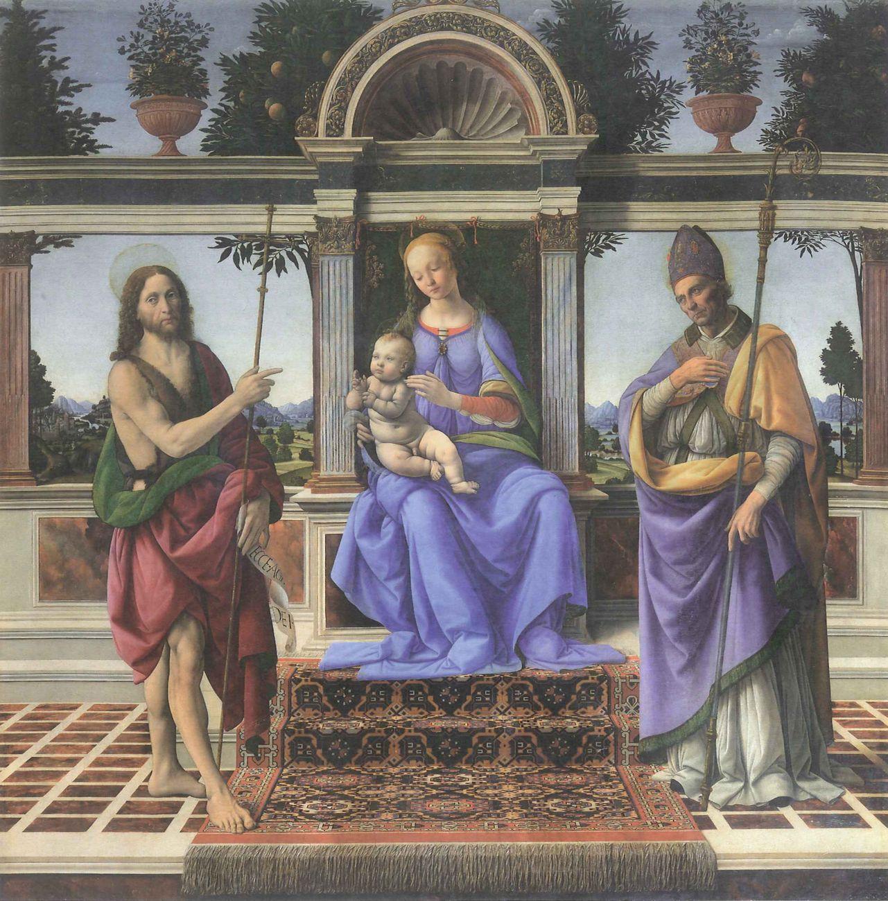 Lorenzo di Credi su disegno di Leonardo da Vinci. La Madonna di Piazza. Cattedrale di Pistoia