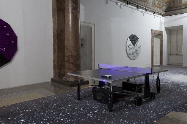 Luca Pozzi, Eternal Love (sonified interactive table tennis), 2019. Photo Francesco Casarin