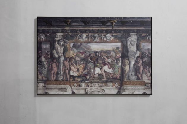 Luca Pozzi, Wilson Tour Carracci (From battle between Romans and Sabini), 2018. Photo Francesco Casarin
