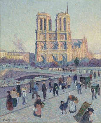 Maximilien Luce, The Quai Saint Michel and Notre Dame, Google Art Project via Wikipedia