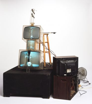 Nam June Paik, TV Cello, 1971, Formerly the collection of Otto Piene and Elizabeth Goldring, Massachusetts, Collection Walker Art Center, T. B. Walker Acquisition Fund, 1992