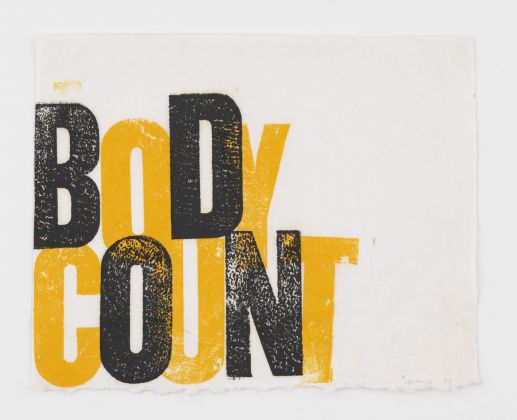 Nancy Spero. Body Count. 1974 © 2019 The Nancy Spero and Leon Golub Foundation for the Arts Licensed by VAGA at ARS, NY, courtesy Galerie Lelong & Co. Photo Christopher Burke Studio