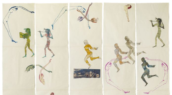 Nancy Spero. The Goddess Nut II. 1990 © 2019 The Nancy Spero and Leon Golub Foundation for the Arts Licensed by VAGA at ARS, NY, courtesy Galerie Lelong & Co. Photo Michael Bodycomb