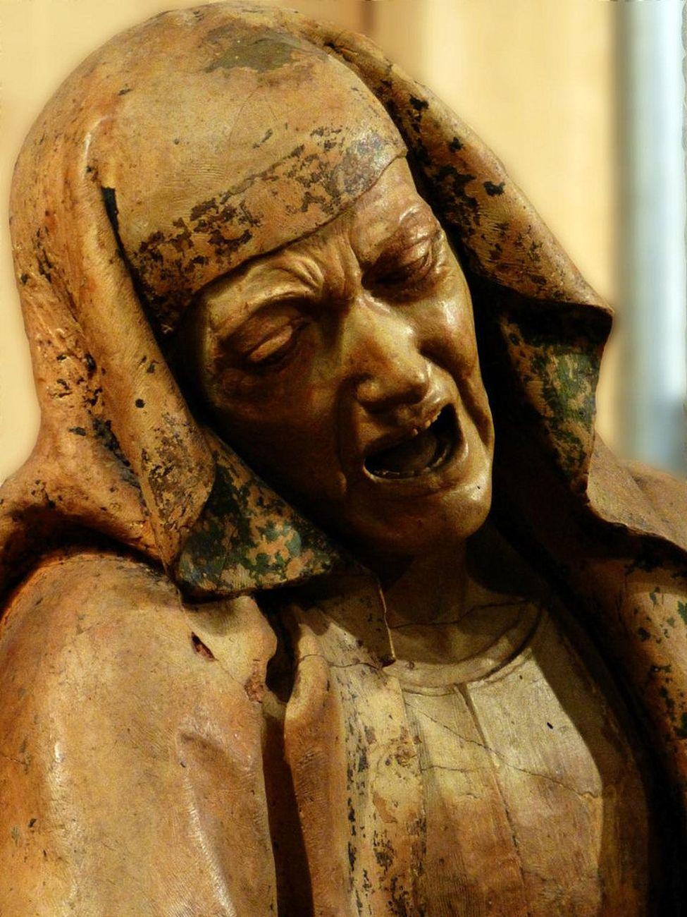 Niccolò dell'Arca, Compianto sul Cristo morto, 1463-90. Santa Maria della Vita, Bologna, Madonna