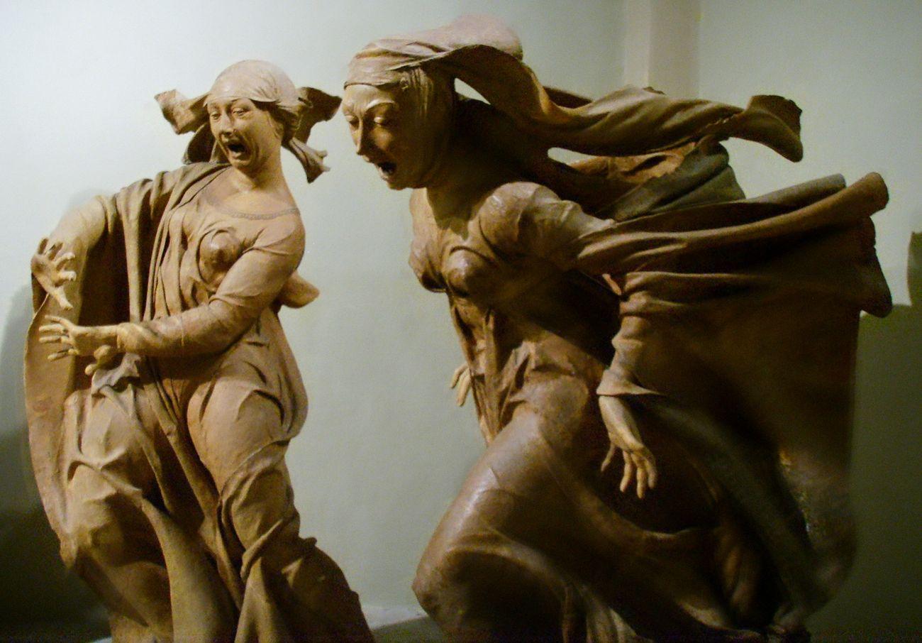 Niccolò dell'Arca, Compianto sul Cristo morto, 1463-90. Santa Maria della Vita, Bologna, particolare