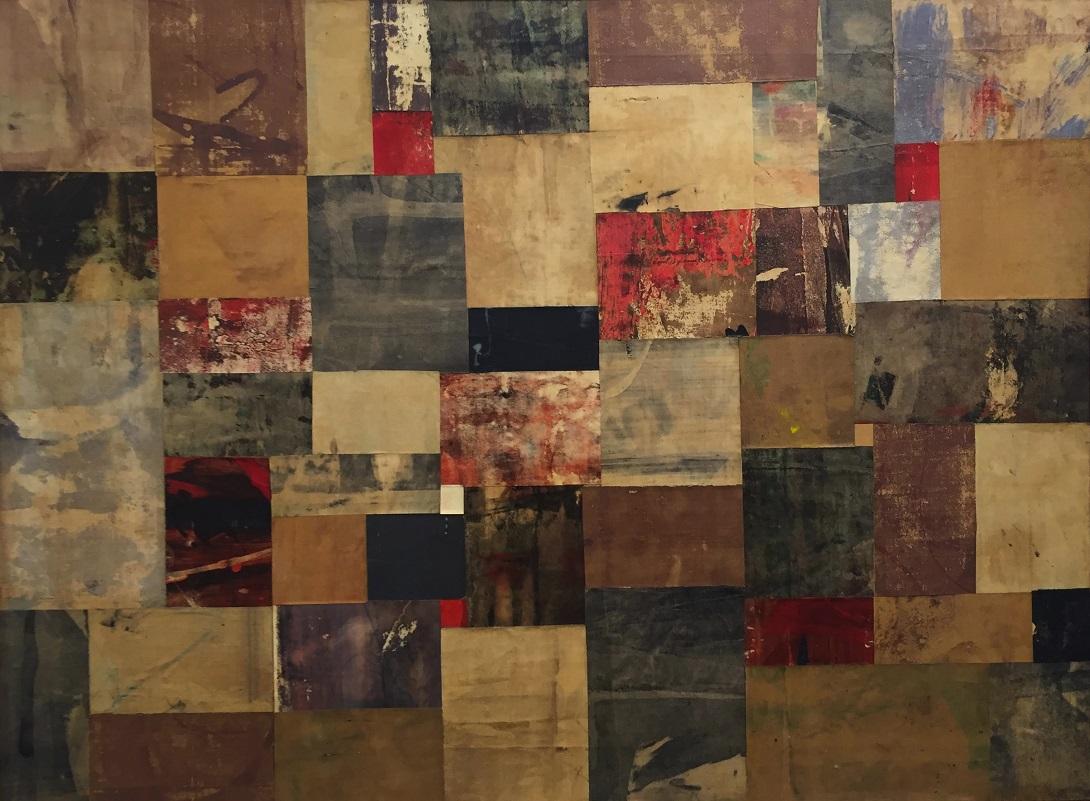 Nuvolo, Senza Titolo, 1957_olio e collage di carte dipinte su tela, Scaramouche loves Aline