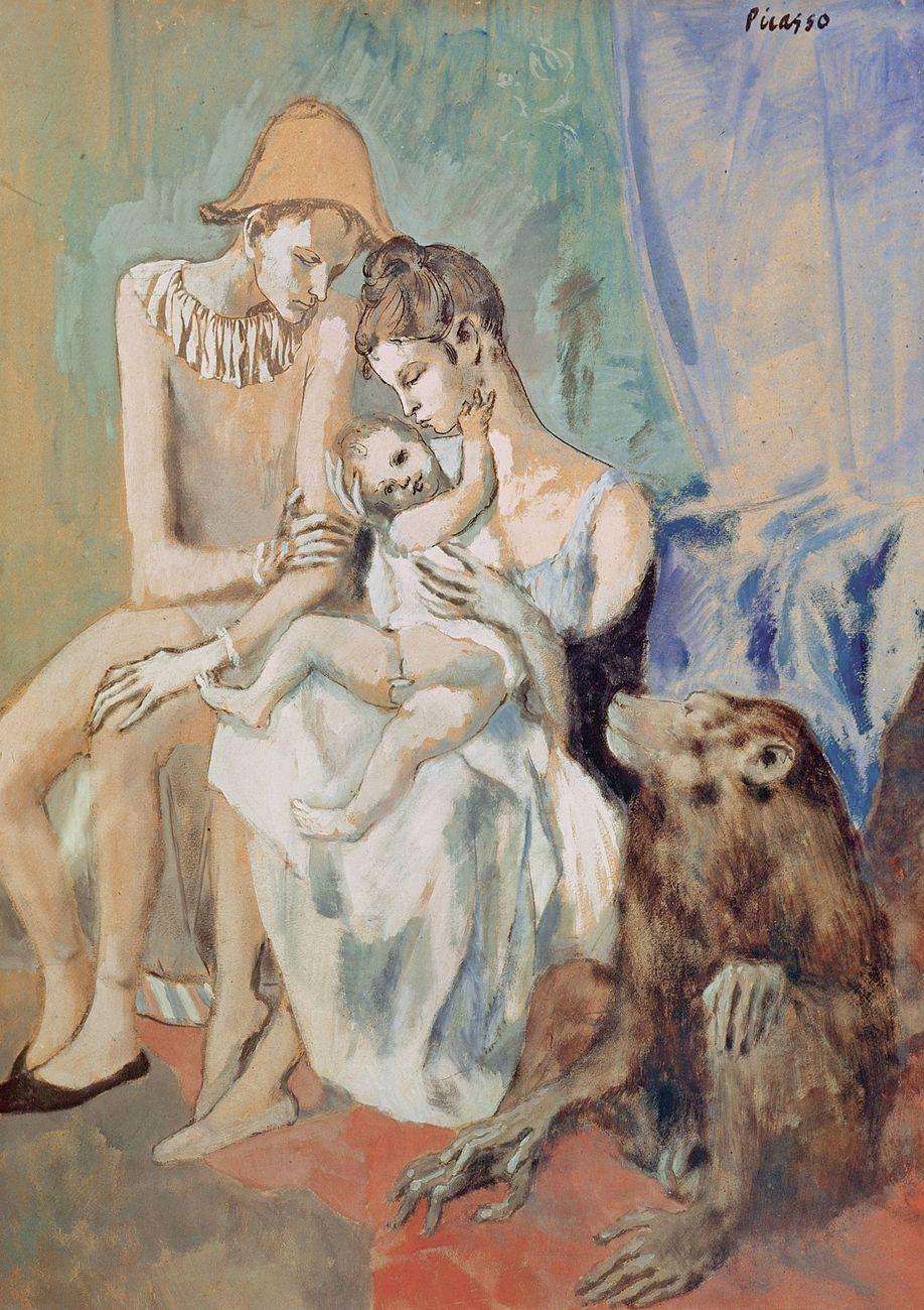 Pablo Picasso, Famille de saltimbanques avec un singe, 1905. Göteborg Konstmuseum © Succession Picasso - 2018, ProLitteris, Zurigo