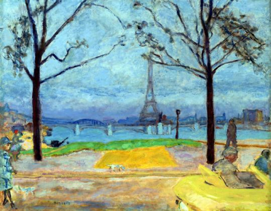 Pierre Bonnard, The Pont de Grenelle and the Eiffel Tower, 1912, credits Virginia Museum of Fine Arts