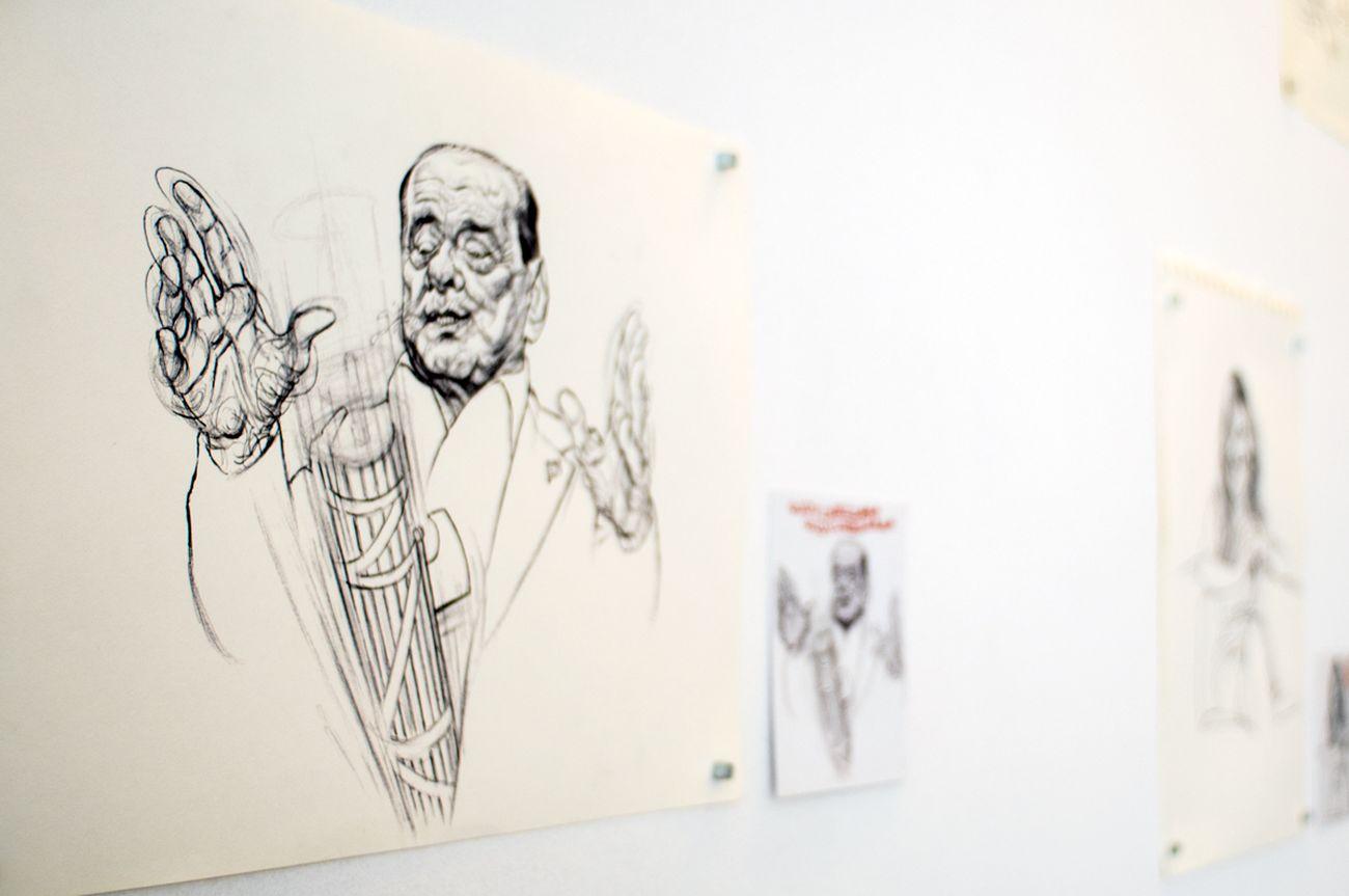Riccardo Mannelli. Diario di un vizio. Kunstschau Contemporary Place, Lecce 2019. Photo Grazia Amelia Bellitta