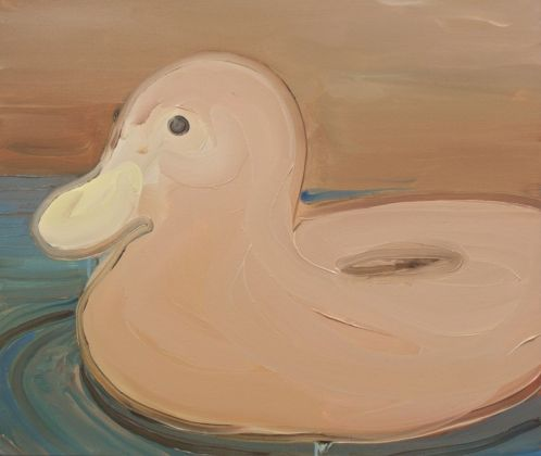 Rudy Cremonini, Funny duck, 2018, oil on linen, 50x60 cm
