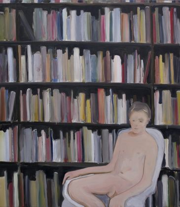 Rudy Cremonini, The lord of the archive, 2019, oil on juta, 150x130 cm