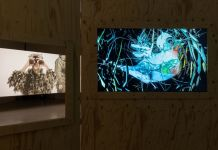 Sören Thilo Funder, The Watchers of Malheur (Tweet Tweet), 2019. Den Frie, installation view. Courtesy Den Frie. Photo David Stjernholm