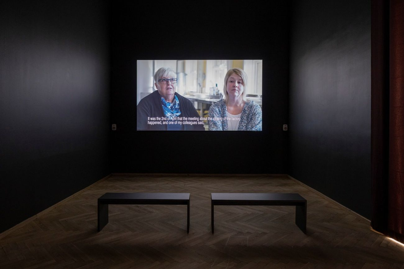 Sara Jordenö, Diamond People, 2016. Installation view, Europa Endlos, Kunsthal Charlottenborg, 2019. Courtesy Sara Jordenö. Photo Anders Sune Berg