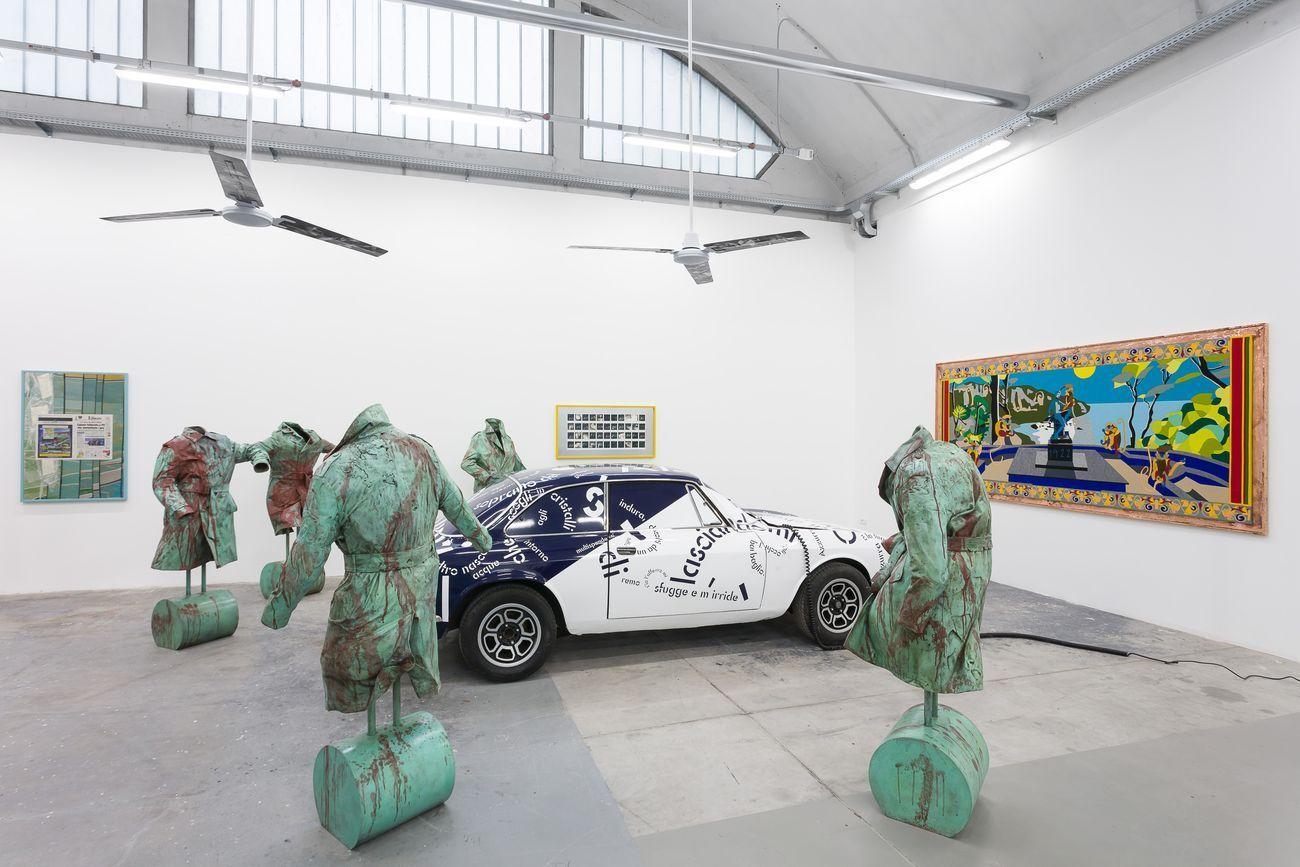 Than Hussein Clark. L'Isola dei Baci (Disappearing Acts). Installation view at KURA c-o Fonderia Artistica Battaglia, Milano 2019. Photo Mark Blower. Courtesy the artist & VI,VII, Oslo