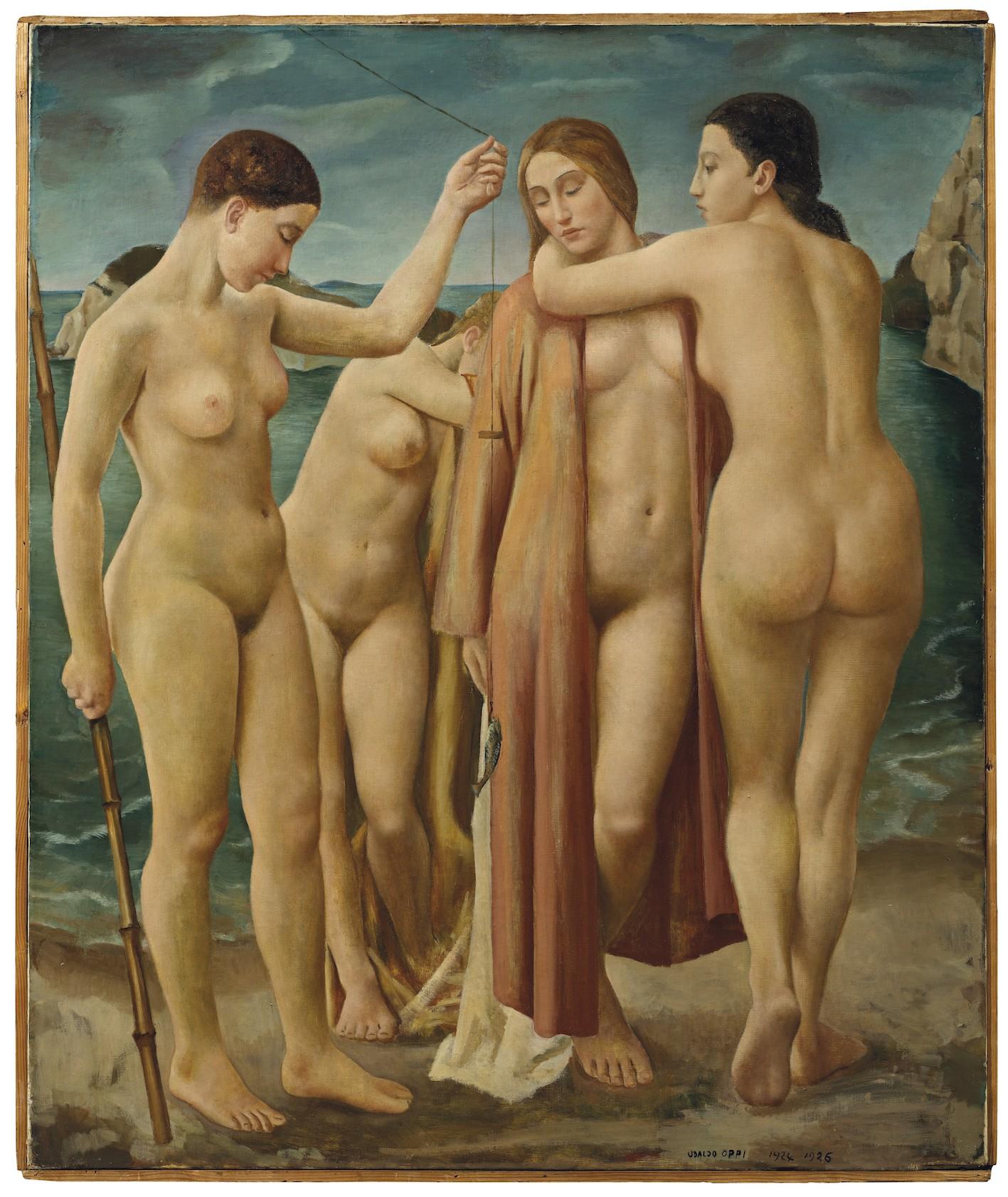 Ubaldo Oppi, Giovani donne al mare