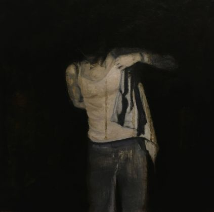 Vincenzo Ferrara, After, 2019. 28x28, olio su carta