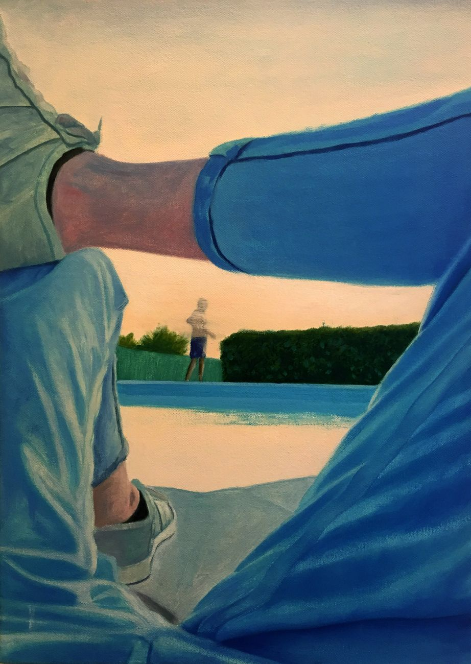 Vincenzo Ferrara, Inquadro, 2018. 50x35, olio su tela