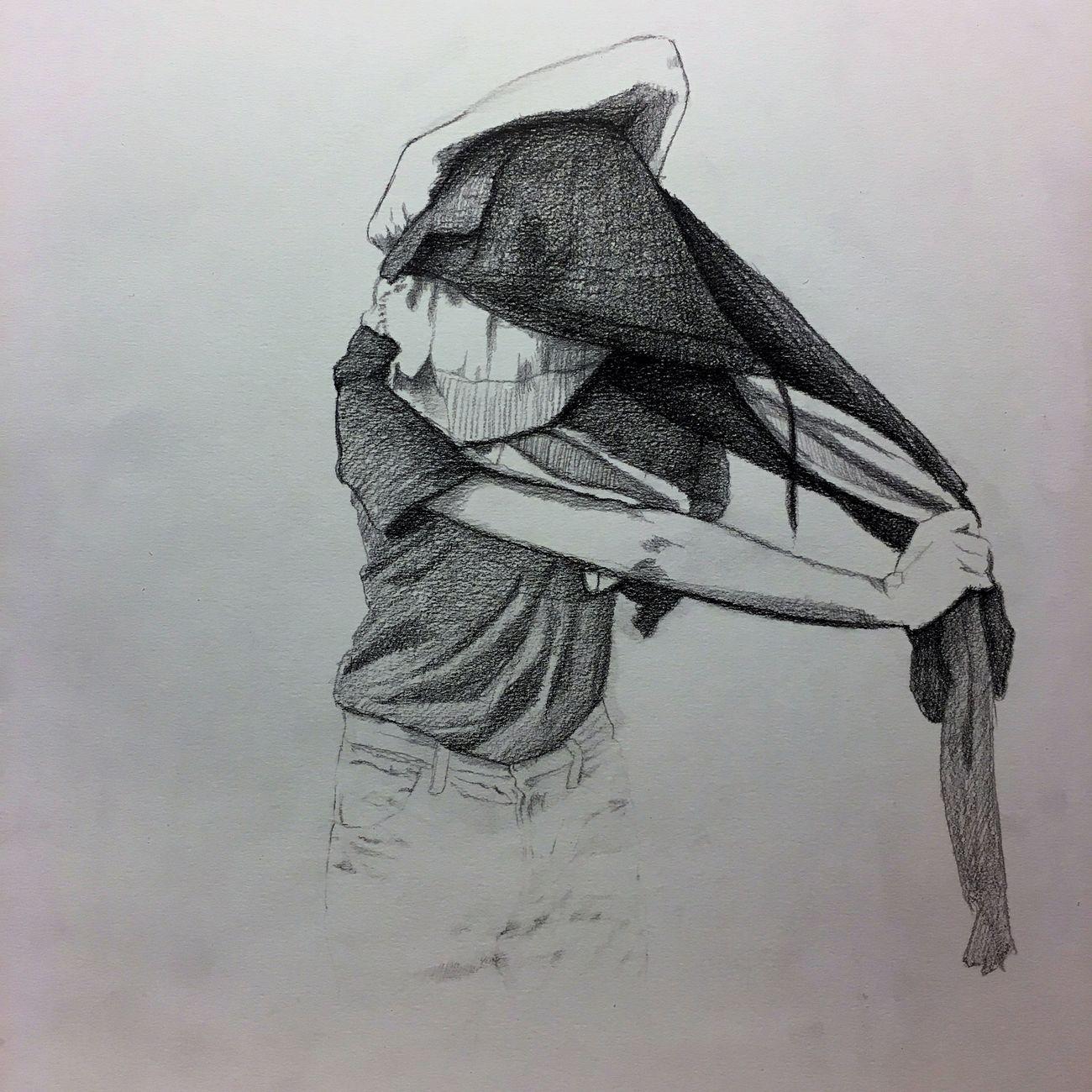 Vincenzo Ferrara, Maglie, 2019. 42x33, matita su carta