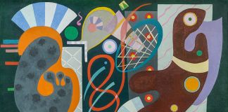 Wassily Kandinsky, Nodo rosso, 1936, olio su tela, cm 89 x 116. Saint Paul de Vence, Fondation Marguerite et Aimé Maeght © Claude Germain Archives Fondation Maeght (France)