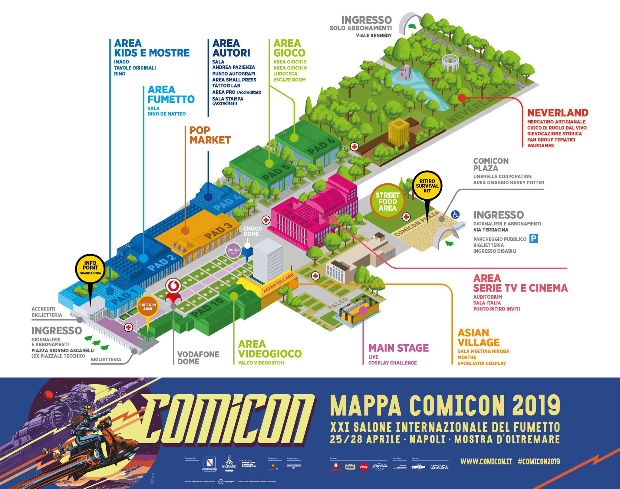Mappa Comicon 2019