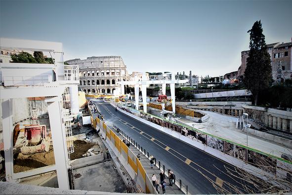 Roma, Fori Imperiali station - Courtesy World Tunnel Congress