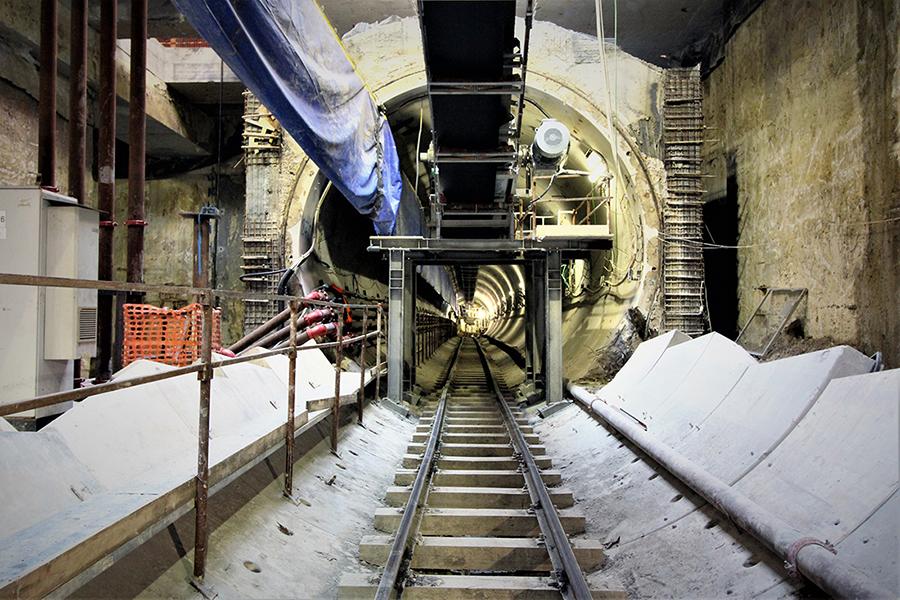 Roma, Amba Aradam-Ipponio station TBM tunnels - Courtesy World Tunnel Congress