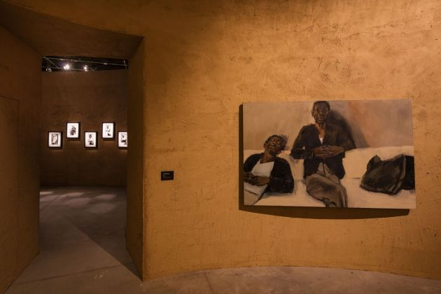 58. Biennale di Venezia. Padiglione Ghana. Lynette Yiadom-Boakye, Just Amongst Ourselves, 2019. Courtesy the artist; Corvi-Mora, London; and Jack Shainman Gallery, New York. Photo David Levene