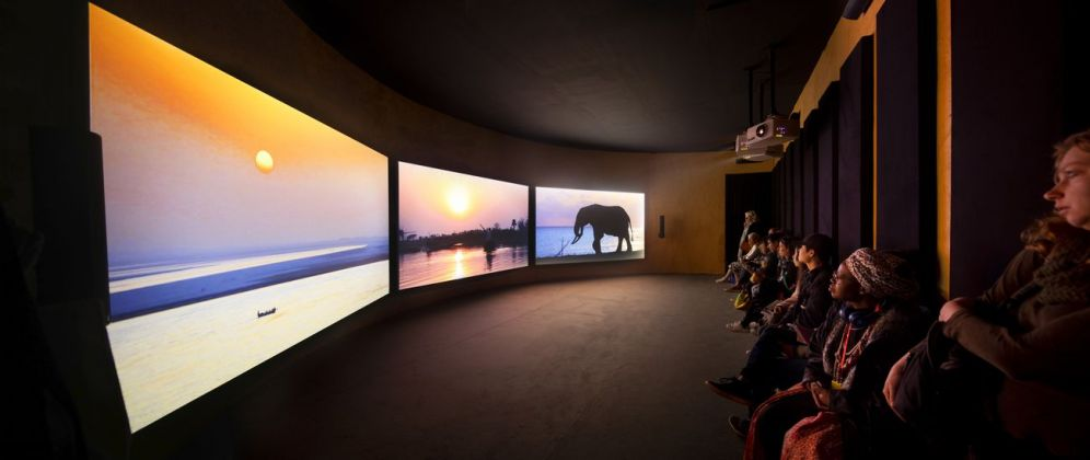 58. Biennale di Venezia. Padiglione Ghana. John Akomfrah, The Elephant in the Room – Four Nocturnes, 2019. Courtesy the artist and White Cube. Photo David Levene. Photo David Levene