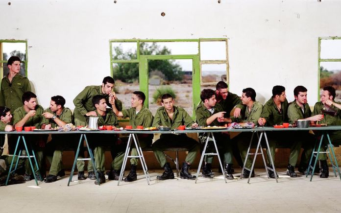 Adi Nes, Untitled (The Last Supper Before Going Out to Battle), 1999