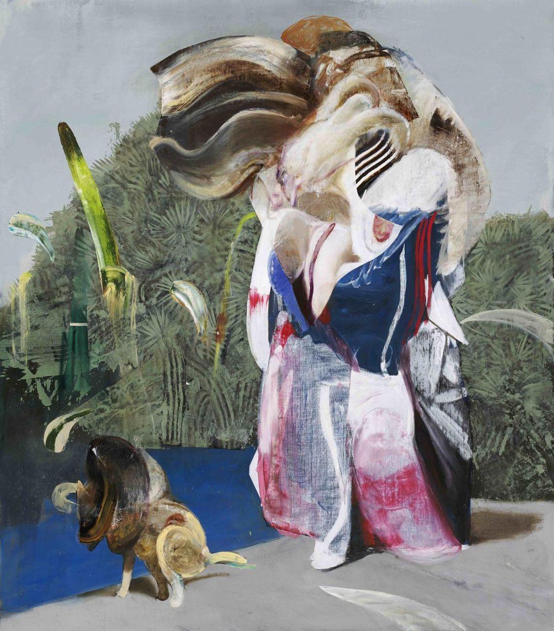 Adrian Ghenie, Figure with Dog, 2019. Courtesy Galerie Thaddaeus Ropac, London Paris Salzburg © Adrian Ghenie