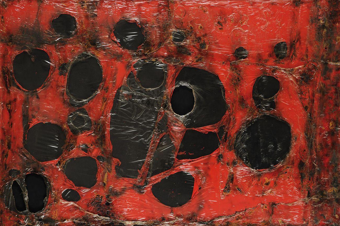 Alberto Burri, Rosso Plastica M3, 1961. Fondazione Palazzo Albizzini Collezione Burri