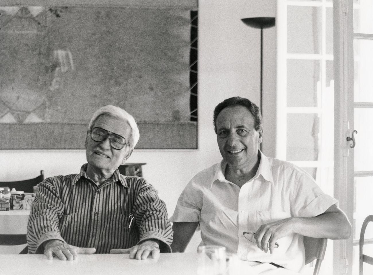 Alberto Burri e Aurelio Amendola, Nizza 1994 ® Aurelio Amendola