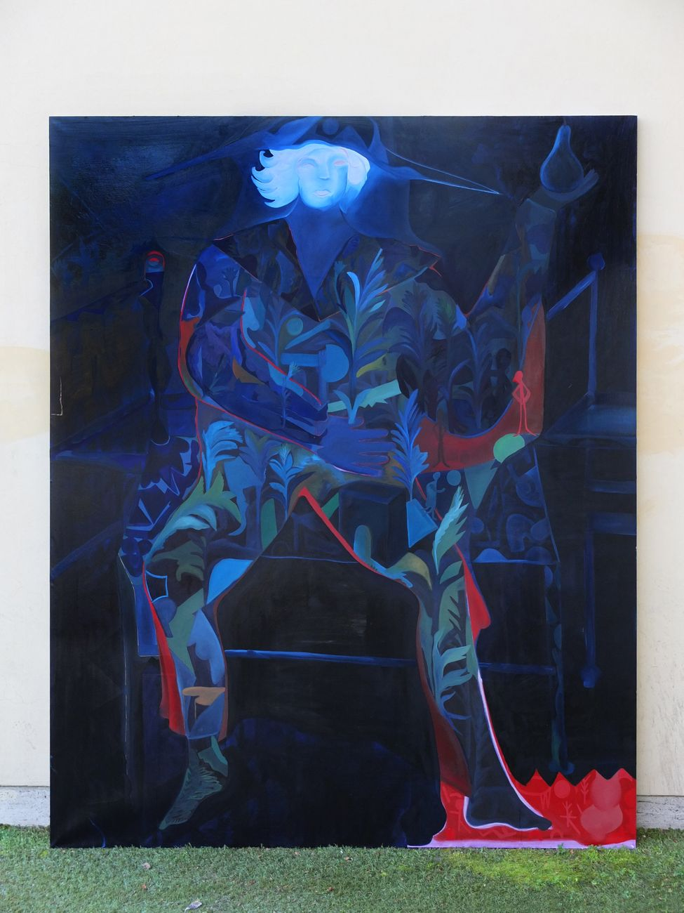 Alice Visentin, Ginevra-Caraibi, oil on canvas, 200 x 250 cm