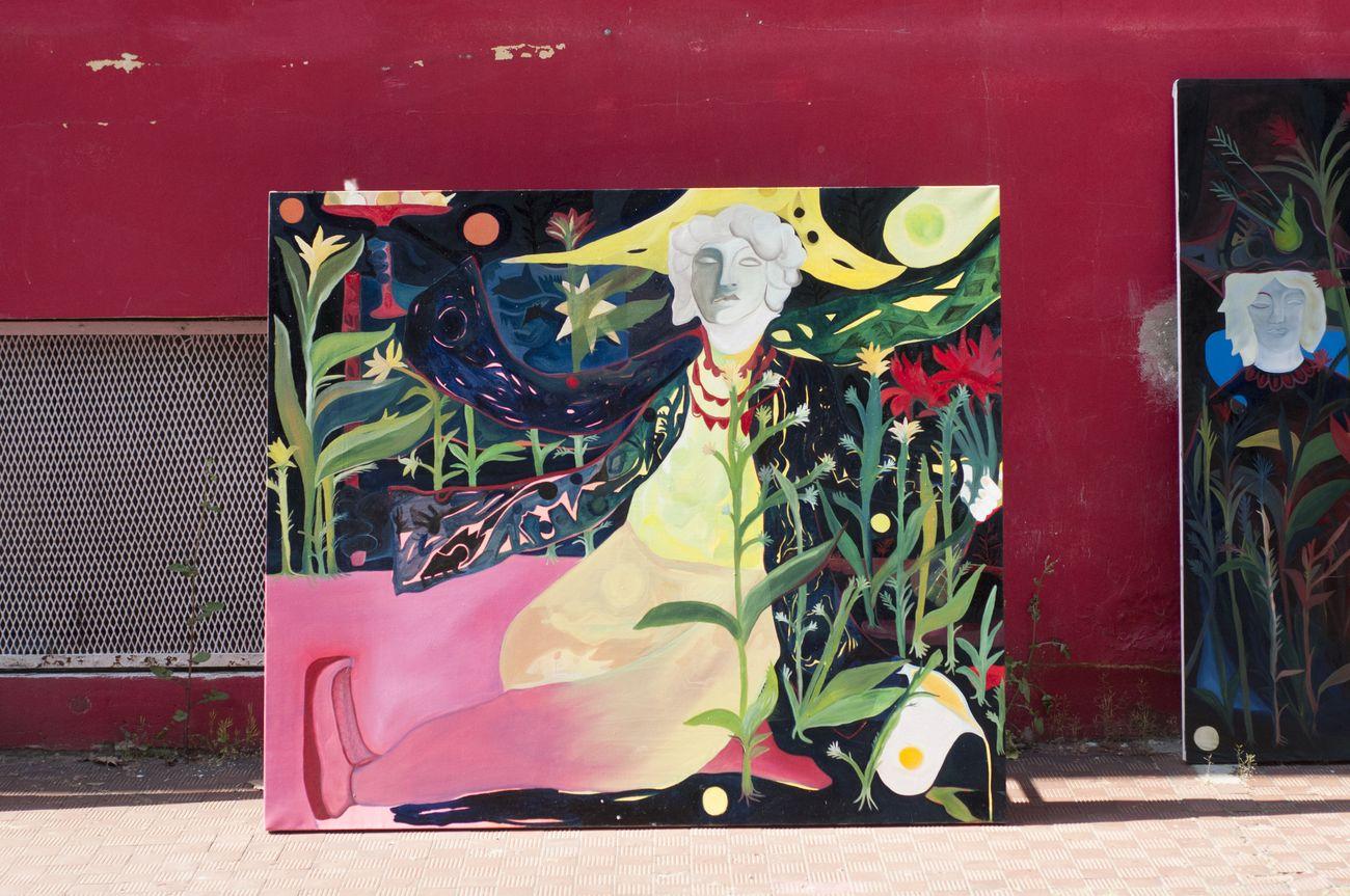 Alice Visentin, L'eremo, 2018, olio su tela, 130 x 150 cm
