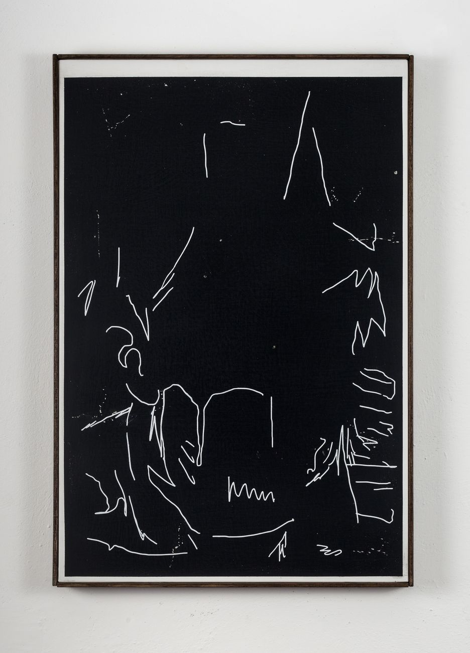 Andrea Carpita, Minimum Portrait (Selfportrait from a painting), 2017
