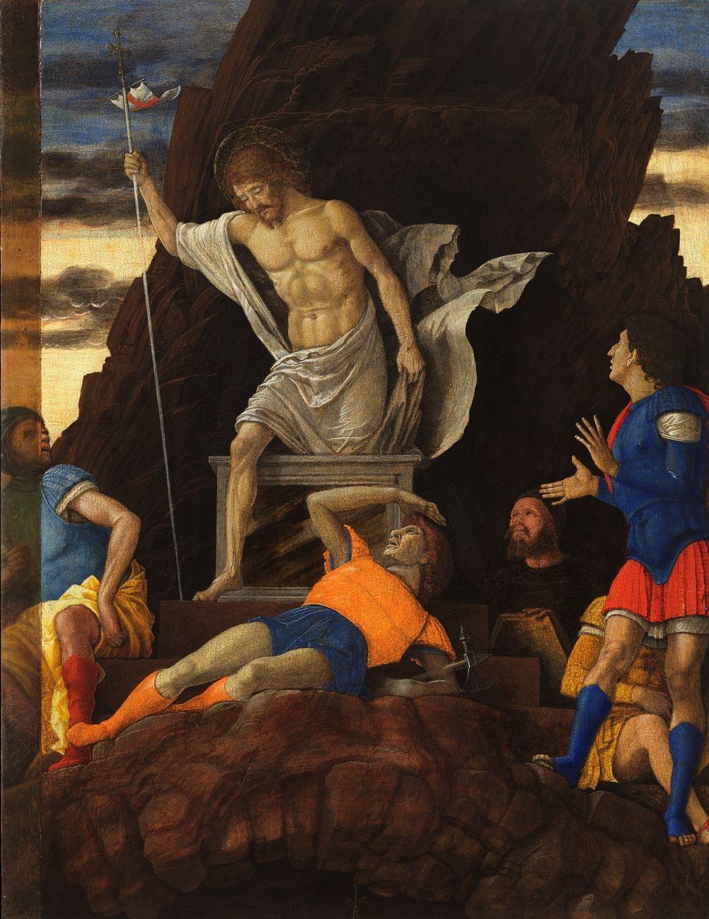 Andrea Mantegna, Resurrezione di Cristo, 1492 ca. Accademia Carrara, Bergamo