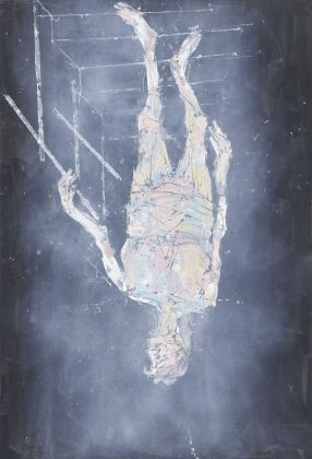 Georg Baselitz, Ankunft (Arrival), 2018, oil on canvas, 173 1/4 x 118 1/8 in 440 x 300 cm, Private Collection