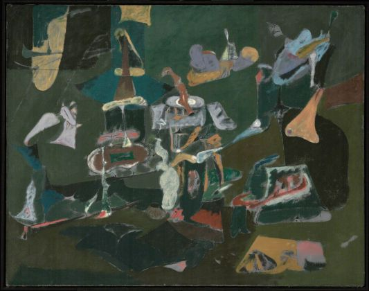 Arshile Gorky, Dark Green Painting, 1948 ca. Philadelphia Museum of Art