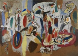 Arshile Gorky, The Liver is the Cock's Comb, 1944. Buffalo, New York, Collection Albright Knox Art Gallery