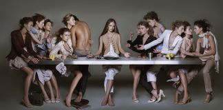 Brigitte Niedermair, Campaign M+F Girbaud. The Last Supper, 2004