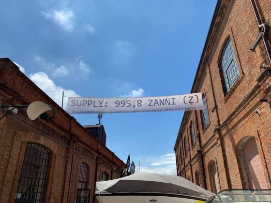 Carlo Zanni, Actual Supply, 2019. Banner, font Arnold by Philipp Neumeyer. Tu vs Everybody, 2019, Venezia.jpg