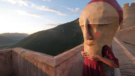 Castello di Rocca Sinibalda, maschere