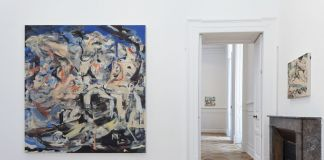 Cecily Brown. We Didn't Mean to Go to Sea. Installation view at Thomas Dane Gallery, Napoli 2019 © Cecily Brown. Courtesy the artist & Thomas Dane Gallery. Photo Amedeo Benestante