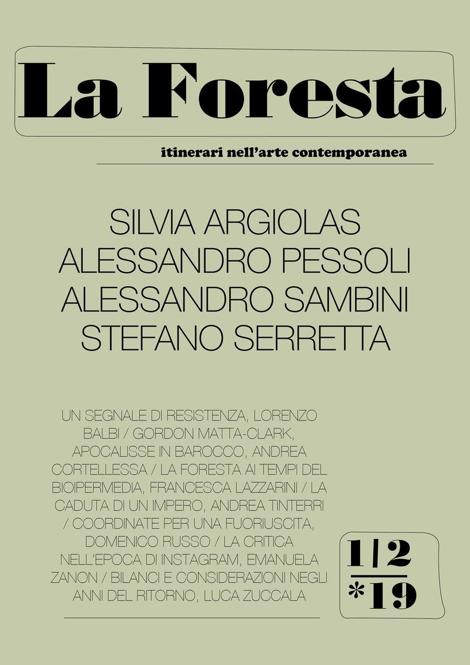Copertina del primo numero de La Foresta
